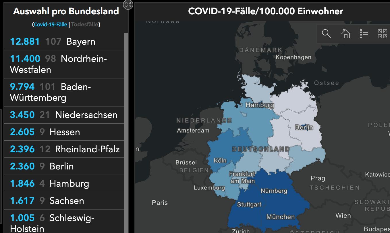 Corona übersichtskarte Baden Württemberg